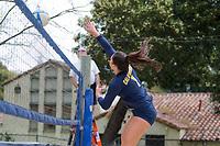 Berkeley, CA - March 18, 2017: Cal Bears Beach Volleyball vs Sacramento State at Clark Kerr Sand Courts.  Final: Cal 4, Sacramento State 1.