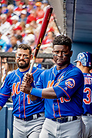 7 March 2019: New York Mets infielder Dilson Herrera prepares for his first at-bat of a Spring Training Game against the Washington Nationals at the Ballpark of the Palm Beaches in West Palm Beach, Florida. The Nationals defeated the visiting Mets 6-4 in Grapefruit League, pre-season play. Mandatory Credit: Ed Wolfstein Photo *** RAW (NEF) Image File Available ***