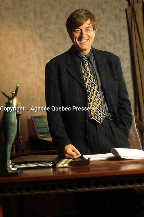 Montreal (Qc) Canada  file Photo - 1999 - Claude Blanchet, President SGF, Societe Generale de Financement