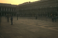 Piazza San Marco with moving people<br />