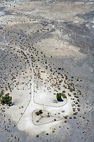 aerial photograph of the Saline Valley Warm Springs hot spring pools in Death Valley National Park, California