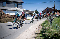 Luke Row (UK/Ineos Grenadiers) in the descent of the Stockeu<br /> <br /> 107th Liège-Bastogne-Liège 2021 (1.UWT)<br /> 1 day race from Liège to Liège (259km)<br /> <br /> ©kramon
