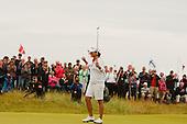 Yani Tseng celebrates winning the 2011 Rocoh Womans British Open at Carnoustie: Picture Stuart Adams www.golftourimages.com: 2012