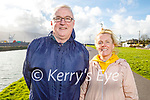 Enjoying a stroll in Blennerville on Tuesday, l to r:  John Tobin and Lorraine Healy.