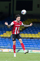 Ryan Bowman of Exeter City heads for goal during Southend United vs Exeter City, Sky Bet EFL League 2 Football at Roots Hall on 10th October 2020