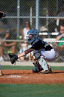 Alex Sosa (27) during the WWBA World Championship at Lee County Player Development Complex on October 8, 2020 in Fort Myers, Florida.  Alex Sosa, a resident of Viera, Florida who attends Viera High School, is committed to North Carolina State.  (Mike Janes/Four Seam Images)