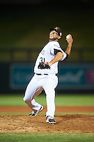 Salt River Rafters pitcher Rayan Gonzalez (31), of the Colorado Rockies organization, during a game against the Surprise Saguaros on October 21, 2016 at Salt River Fields at Talking Stick in Scottsdale, Arizona.  Salt River defeated Surprise 3-2.  (Mike Janes/Four Seam Images)