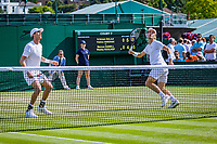 London, England, 5 th. July, 2018, Tennis,  Wimbledon, Men's doubles: Wesley Koolhof (NED) and Marcus Daniel (NZL) (L)<br /> Photo: Henk Koster/tennisimages.com