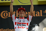 Caleb Ewan (AUS) Lotto-Soudal wins his first ever Tour stage, Stage 11 of the 2019 Tour de France running 167km from Albi to Toulouse, France. 17th July 2019.<br /> Picture: Colin Flockton   Cyclefile<br /> All photos usage must carry mandatory copyright credit (© Cyclefile   Colin Flockton)