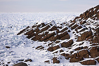 Drift Ice forms during the winter months in the Sea of Okhotsk, Shiretoko Peninsula, Hokkaido, Japan, February 2008