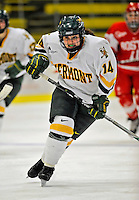 9 February 2008: University of Vermont Catamounts' forward and defenseman Peggy Wakeham, a Freshman from Bay Roberts, Newfoundland, in action against the Boston University Terriers at Gutterson Fieldhouse in Burlington, Vermont. The Terriers shut out the Catamounts 2-0 in the Hockey East matchup...Mandatory Photo Credit: Ed Wolfstein Photo