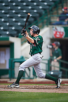 Great Lakes Loons right fielder Logan Landon (9) during the second game of a doubleheader against the Fort Wayne TinCaps on May 11, 2016 at Parkview Field in Fort Wayne, Indiana.  Great Lakes defeated Fort Wayne 5-0.  (Mike Janes/Four Seam Images)