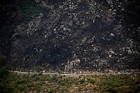 up the first categorised climb of the day: the Puerto de Bernardo<br /> <br /> Stage 20: Arenas de San Pedro to Plataforma de Gredos (190km)<br /> La Vuelta 2019<br /> <br /> ©kramon