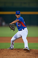 AZL Cubs 2 relief pitcher Maikel Aguiar (57) during an Arizona League game against the AZL Reds on July 23, 2019 at Sloan Park in Mesa, Arizona. AZL Cubs 2 defeated the AZL Reds 5-3. (Zachary Lucy/Four Seam Images)