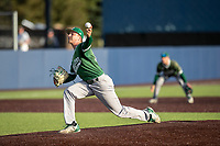 Eastern Michigan Eagles pitcher Mitchell Sparks (35) delivers a pitch to the plate during the NCAA baseball game against the Michigan Wolverines on May 8, 2019 at Ray Fisher Stadium in Ann Arbor, Michigan. Michigan defeated Eastern Michigan 10-1. (Andrew Woolley/Four Seam Images)
