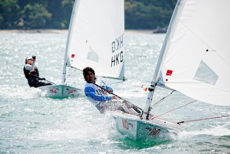 IndiaLaser RadialWomenHelmINDNK4NethraKumanan<br /> Day3, 2015 Youth Sailing World Championships,<br /> Langkawi, Malaysia