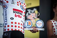 podium with Polka Dot Jersey /KOM Leader Tim Wellens (BEL/Lotto Soudal)<br /> <br /> Stage 5: Saint-Dié-des-Vosges to Colmar (175km)<br /> 106th Tour de France 2019 (2.UWT)<br /> <br /> ©kramon