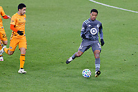ST PAUL, MN - OCTOBER 18: Jacori Hayes #5 of Minnesota United FC during a game between Houston Dynamo and Minnesota United FC at Allianz Field on October 18, 2020 in St Paul, Minnesota.