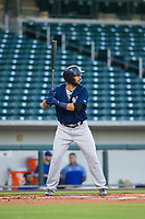 AZL Brewers third baseman Julian Jarrard (39) bats during a game against the AZL Cubs on August 6, 2017 at Sloan Park in Mesa, Arizona. AZL Cubs defeated the AZL Brewers 8-7. (Zachary Lucy/Four Seam Images)