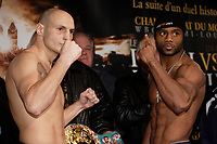 Montreal (QC) CANADA- Dec 10 2009- Official Weighting before Dec 11 Fight :<br /> Adrian Diaconu,<br /> Jean Pascal