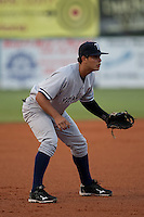 April 21 2010: Walter Ibarra (25) of the Tampa Yankees during a game vs. the Daytona Beach Cubs at Jackie Robinson Ballpark in Daytona Beach, Florida. Tampa, the Florida State League High-A affiliate of the New York Yankees, won the game against Daytona, the affiliate of the Chicago Cubs by the score of 4-1.  Photo By Scott Jontes/Four Seam Images