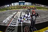 NASCAR Camping World Truck Series<br /> Stratosphere 200<br /> Las Vegas Motor Speedway, Las Vegas, NV USA<br /> Friday 2 March 2018<br /> Kyle Busch, Kyle Busch Motorsports, Toyota Tundra Cessna, celebrates after winning.<br /> World Copyright: John K Harrelson<br /> NKP / LAT Images