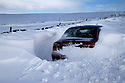 01/02/15<br /> <br /> After more overnight snow a car is seen abandoned buried in snowdrifts on Rushup Edge near Chapel-en-le-Frith in the Derbyshire Peak District.<br /> <br /> All Rights Reserved - F Stop Press.  www.fstoppress.com. Tel: +44 (0)1335 418629 +44(0)7765 242650