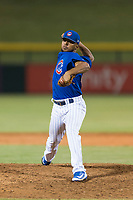 AZL Cubs 1 relief pitcher Fauris Guerrero (41) delivers a pitch during an Arizona League playoff game against the AZL Rangers at Sloan Park on August 29, 2018 in Mesa, Arizona. The AZL Cubs 1 defeated the AZL Rangers 8-7. (Zachary Lucy/Four Seam Images)