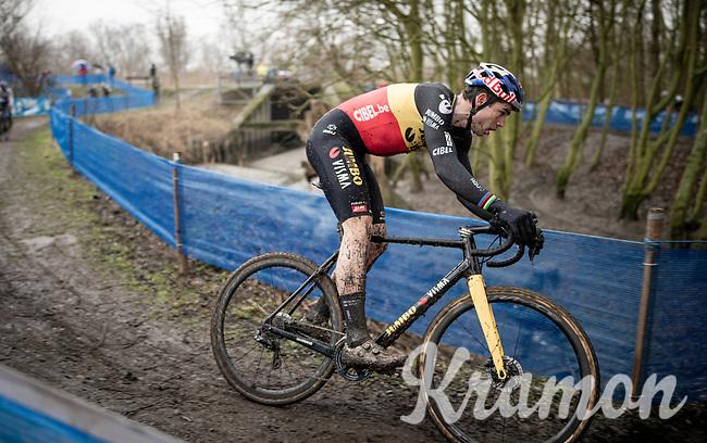 Wout van Aert (BEL/Jumbo-Visma) racing the 2021 Flandriencross in Hamme, Belgium ©kramon