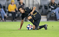 LOS ANGELES, CA - OCTOBER 29: Carlos Vela #10 of the Los Angeles FC moves with the ball during a game between Seattle Sounders FC and Los Angeles FC at Banc of California Stadium on October 29, 2019 in Los Angeles, California.