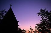 Belgrade, Serbia, Yugoslavia. Ruzica Church in the Kalemegdan fortress at sunset.