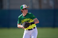 Aidan Kelly during the Under Armour All-America Pre-Season Tournament, powered by Baseball Factory, on January 19, 2019 at Fitch Park in Mesa, Arizona.  Aidan Kelly is a shortstop from Los Gatos, California who attends Los Gatos High School.  (Mike Janes/Four Seam Images)
