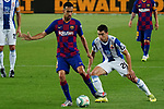 8th July 2020; Camp Nou, Barcelona, Catalonia, Spain; La Liga Football, Barcelona versus Espanyol; Picture show Busquets and Marc Roca