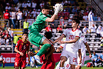 Goalkeeper Dang Van Lam of Vietnam (L) saves the ball during the AFC Asian Cup UAE 2019 Group D match between Vietnam (VIE) and I.R. Iran (IRN) at Al Nahyan Stadium on 12 January 2019 in Abu Dhabi, United Arab Emirates. Photo by Marcio Rodrigo Machado / Power Sport Images