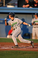 September 5, 2009:  Shortstop Chris Wade (23) of the Jamestown Jammers at bat during a game at Dwyer Stadium in Batavia, NY.  The Jammers are the NY-Penn League Short-Season Class-A affiliate of the Florida Marlins.  Photo By Mike Janes/Four Seam Images