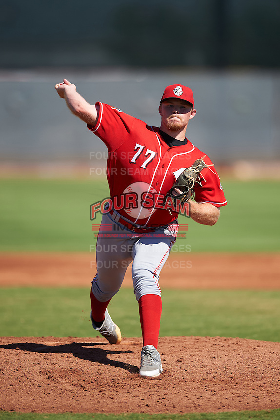 Cincinnati Reds pitcher Jeremy Kivel (77) during an Instructional League game against the Chicago White Sox on October 11, 2016 at the Cincinnati Reds Player Development Complex in Goodyear, Arizona.  (Mike Janes/Four Seam Images)