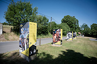 Panels full of cycling history down the Ronde Van Vlaanderen Straat <br /> <br /> cycling hotspots & impressions in the Vlaamse Ardennen (Flemish Ardennes) <br /> <br /> Cycling In Flanders <br /> Flanders Tourist Board<br /> <br /> ©kramon