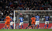 International friendly football match Italy vs The Netherlands, Allianz Stadium, Turin, Italy, June 4, 2018. <br /> Netherlands' Nathan Aké scores during the international friendly football match between Italy and The Netherlands at the Allianz Stadium in Turin on June 4, 2018.<br /> UPDATE IMAGES PRESS/Isabella Bonotto