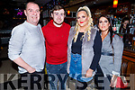 Edward O'Connor, Paul Kerins, Rachel and Jessica O'Connor enjoying the evening in the Brogue Inn on Friday.