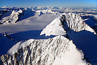 Aerial of Mount Gilbert, Chugach Mountains, Prince William Sound, Chugach National Forest, Alaska.
