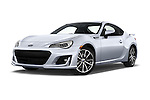 Stock pictures of low aggressive front three quarter view of 2018 Subaru BRZ Limited 2 Door Coupe Low Aggressive