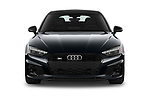 Car photography straight front view of a 2021 Audi S5-Sportback Premium-Plus 5 Door Hatchback Front View