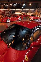 Europe/Italie/Emilie-Romagne/Maranello : Galerie Ferrari (Enzo Ferrari fonda sa propre écurie de course automobile et installa son usine à Maranello)