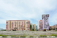 Newly painted apartment buildings in Batumi.....