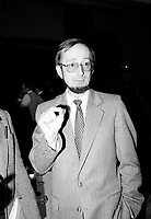 March 12 1984 File Photo - Montreal, Quebec, CANADA - Yves Berube, Quebec Minister of Education