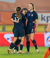 BREDA, NETHERLANDS - NOVEMBER 27: Rose Lavelle #16 of the USWNT celebrates her goal during a game between Netherlands and USWNT at Rat Verlegh Stadion on November 27, 2020 in Breda, Netherlands.
