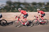Gregory Rast (SUI/Trek-Segafredo) & Boy van Poppel (NED/Trek-Segafredo) speeding<br /> <br /> 27th Challenge Ciclista Mallorca 2018<br /> Trofeo Campos-Porreres-Felanitx-Ses Salines: 176km