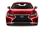 Car photography straight front view of a 2019 Lexus RC 300h-Privilege-Line 2 Door Coupe Front View