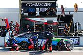 #96: Daniel Suarez, Gaunt Brothers Racing, Toyota Camry CommScope pit stop