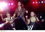 German metal group Scorpions onstage in the 1990's.<br />